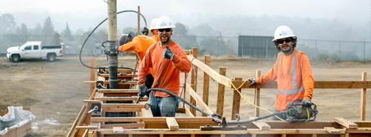 Carpenters working on site
